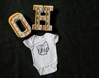 Made In Ohio Baby Onesie