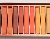 Box Of Weber Costello Alphacolor Chalk 12 Square Pastels Earth Tones In Original Box