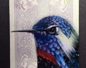 Costa' Hummingbird Universe on a playing cards. 2017