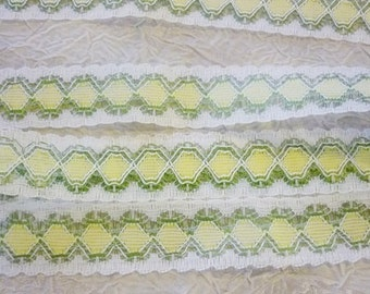 "5 yards Vintage Lace 1"" Pastel Lovely Lace 5 Yards"