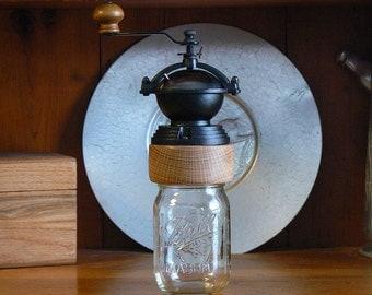 Mechanical Coffee Grinder - Coffee Mill - Fresh Ground Coffee – Canning Jar Base - Burr Grinder - Foodie -CG-MJ19