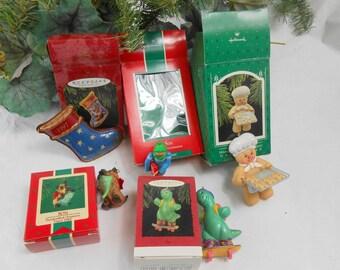 Vintage Hallmark collector ornaments Hallmark SON ornaments Hallmark boxed Christmas ornaments new old stock with price original tags