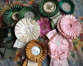 A Few Vintage Salvaged Ribbon Rosettes Make Your Own Charm