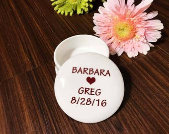 Gift for Bride from Groom | Ring Box | Gift for Bride | Handmade Ceramic from my Charleston, SC studio