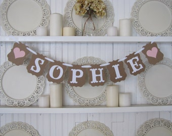 Custom Name Banner, New Baby Name Sign,Custom Name Sign, Photo Prop, Wedding Sign, Party Decoration, Wedding Decoration, Family Reunion Sign