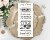 Editable Thank You Place Cards, Elegant, Typography Printable Template, DIY Wedding, PDF, Instant Download - Editable Printable File