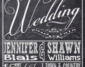 Chalkboard Wedding Invitations, Typography, Custom Wedding Invitation Listing for jenbooth79