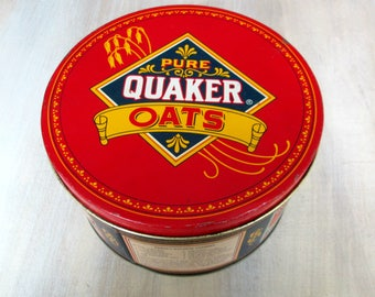 Collectible Limited Edition Quaker Oats Tin Vintage 1980s