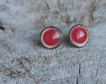 Petites merveilles melon // earrings // fait au quebec   (BO-1209)