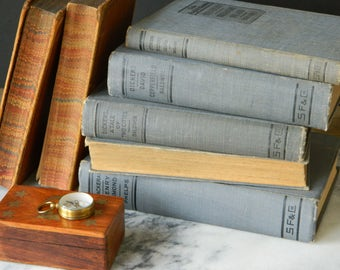 Lake English Classics. Set of Five Vintage Books. Classic Literature. Home Decor. Book Collection. Dickens, Sir Walter Scott....