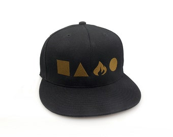 Men's/Unisex Hat - The Four Elements - Fitted and Snapback Options Availalblele