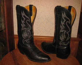 NOCONA    Bullhide  &  Leather      Made In USA     Cowboy Boots      Mens  9  E