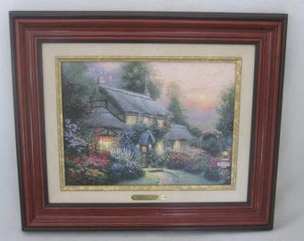 THOMAS KINKADE juliannes cottage 8490 edition number 2000 on artist CANVAS