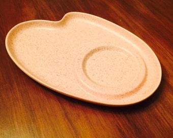 Vintage Atomic Pink Boomerang Kidney Shaped Plate Platter Serving Retro Midcentury 1950s
