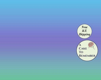 """3 full sheets ombre printed wafer paper for cake decorating or cupcake decorating. 8"""" x 10.5"""" edible paper prints"""