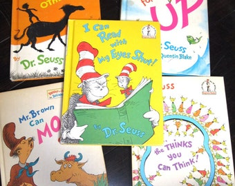 Dr. Suess Hardcover Book Lot/Great Day for Up/I Can Read with My Eyes Shut/Mr. Brown Can Moo/The Shape of Me and Other Stuff/Book Club