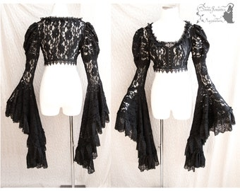Bolero Victorian, steampunk shrug, gothic, goth, Somnia Romantica, size small - medium, see item details for measurements