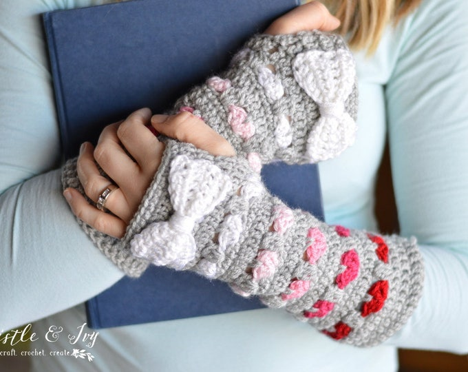 Puppy Love Arm Warmers CROCHET PATTERN PDF