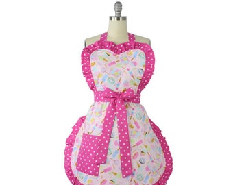 My Sweetest Valentine Apron / Sweets Pink Apron