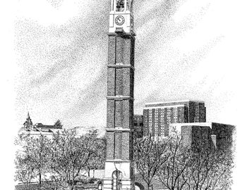 Purdue University Bell Tower, digital file
