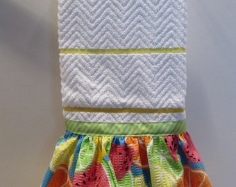 Kitchen Towel with Citrus Fruit Ruffle