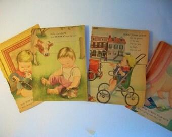 Eloise Wilkin vintage images | children book pages | vintage Eloise Wilkin illustration | vintage Little Golden Book | paper ephemera images