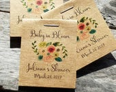 30 Personalized MINI Floral Bridal Shower Flower Seed Packet Favors Sow in Love Wildflower Seeds Wedding Favors Rehearsal Dinner Thank You