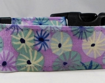 Dog Collar, Martingale Collar, Cat Collar - All Sizes  - Sea Holly