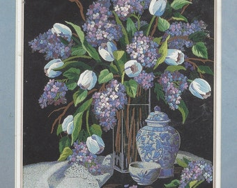Crewel Embroidery Kit Lilacs and Lace Designed by Linda Tomkin Dimensions Crewel Kit 1529 UnOpened Embroidery Kits