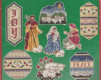 90s Renaissance Ornaments Dimensions Counted Cross Stitch Kit 8425 Designed by Karen Avery Cross Stitch Kit for Set of 9 Christmas Ornaments