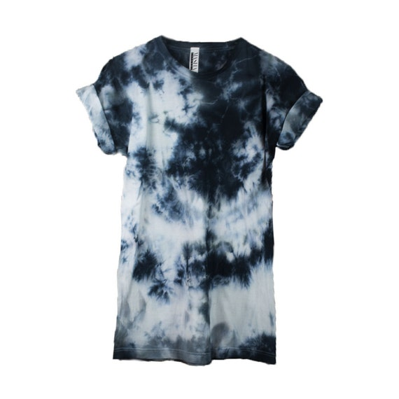 Abstract T shirt 90s grunge tee Tie Dye t shirt all black