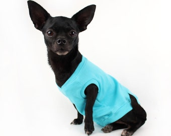 SALE Small dog tank light weight blue tank top for dogs