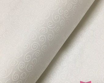 Muslin Mates White Swirls  Moda cotton quilt fabric by the 1/2 yard #9920 11