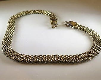Victorian Mesh Pocket Watch Chain Gold Fill 1880s
