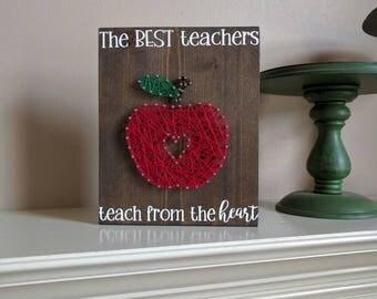 Teacher Gift apple string art