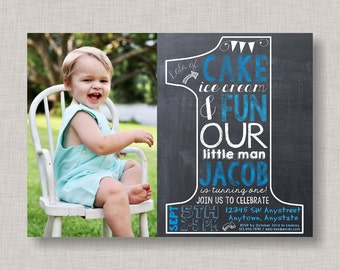 1st birthday invitations boy | Etsy