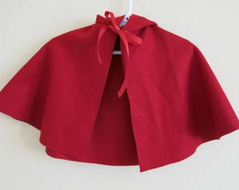 Official American Girl Doll Felicity's Cardinal Cloak Little Red Riding Hood Red Cape 18 Inch Doll 807b