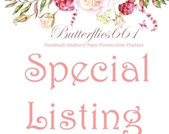 Special order - 170 flowers - White sakura