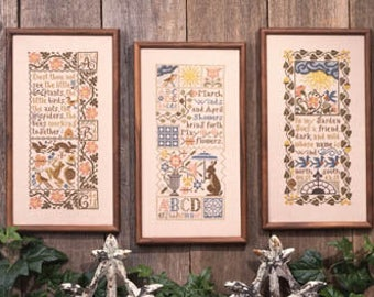 Spring Samplers Book No. 60 cross stitch patterns by Prairie Schooler at thecottageneedle.com samplers Mother's Day for her