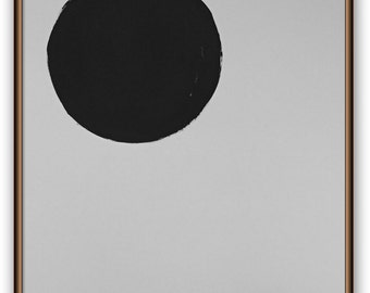 Original minimal art 18x24 inches on heavy art paper titled BLACK MOON