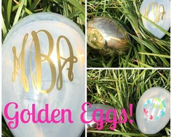 Personalized Easter Egg - Golden Egg - Easter Basket Filler - Easter Gift - Easter Pail - Easter Tub - Baby Shower Gift - New Baby - Stork
