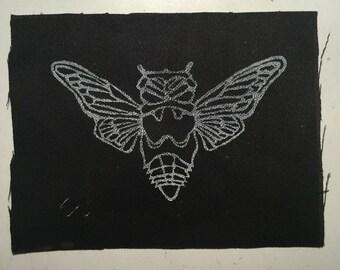 Linocut Cicada Patch