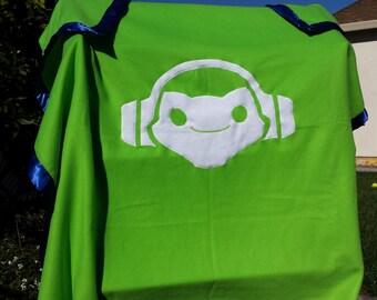 Lucio Overwatch fleece blanket