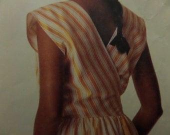 V-BACK WRAP DRESS Pattern • McCall's 3106 • Miss 12-16 • Wrap Sundress • Boat Neck • Sewing Patterns • Vintage Patterns • WhiletheCatNaps