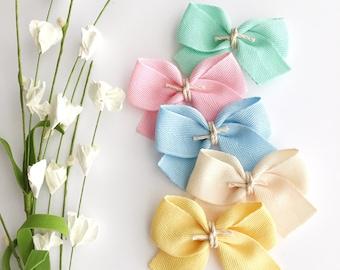 Pastel Baby Headbands - Easter Baby Headband - Pastel Twill Bows - Baby Bows - Easter Headbands - Easter Bows - Sailor Bows -Nylon Headbands