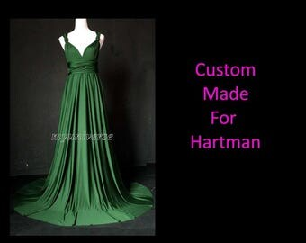 Ship All To One Address Custom Made for Hartman Deep Green Bridesmaid Dress Wedding Dress Infinity Wrap Emerald Green Plus Size Clothing