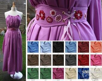 Shea Handmaiden / Grecian Dress 2.0 - <MADE TO ORDER> - one size - (Larp, Cosplay, Ren Faire, Festival) - Cotton Batiste, various colours