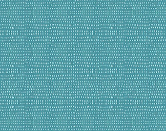 Fabric by the Yard-- Mermaid Days- Seeds in Turquoise by Cori Dantini for Blend Fabrics