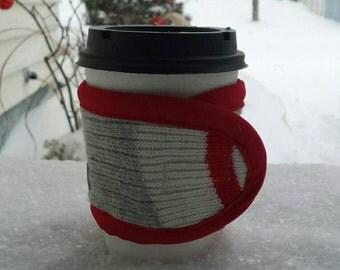 Manchon à café / Coffe cozy / Bas de  Laine / cadeau professeur / thé / Cadeau enseignants / teacher / Style Hipsters / Cadeau / Gift