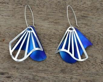 Radiating Swirl Dangle Earrings